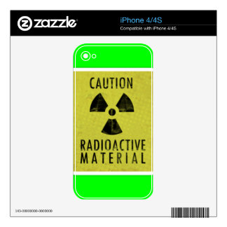 'radioactive materials' skin for the iPhone 4