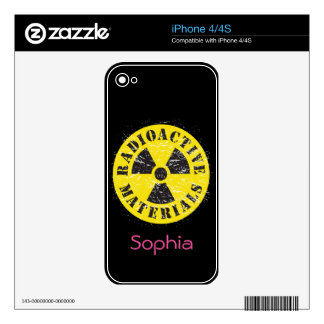 Radioactive Materials Skins For The iPhone 4