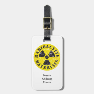 Radioactive Materials Tag For Luggage