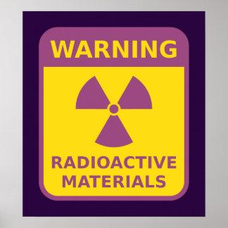 Radioactive Materials Warning Poster