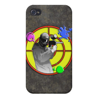 Radioactive Neon Paintball Shooter Case For iPhone 4