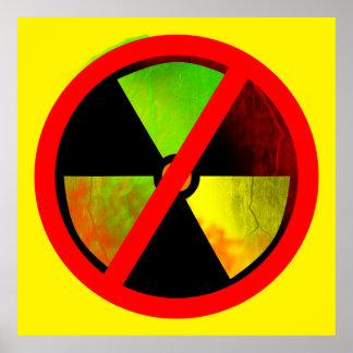 Radioactive No Nukes Anti-Nuclear Poster