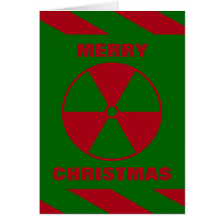Radioactive Nuclear Merry Christmas Red and Green Card