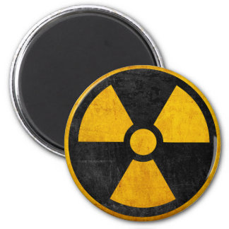Radioactive Nuclear Reactor Yellow and Black Magnet
