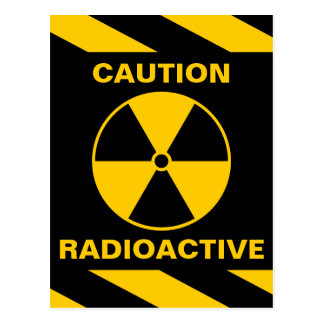 Radioactive Nuclear Reactor Yellow and Black Postcard