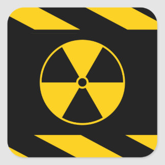 Radioactive Nuclear Reactor Yellow and Black Square Sticker
