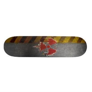 Radioactive Paint On Steel Skateboard