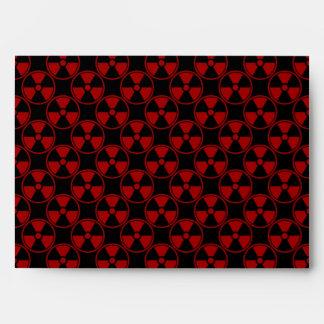 Radioactive pattern on black envelope