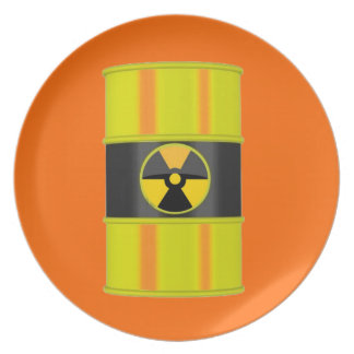 Radioactive-Perfect for 'hot' foods! Party Plate