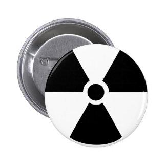 radioactive pinback button