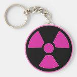 Radioactive Pink Keychain