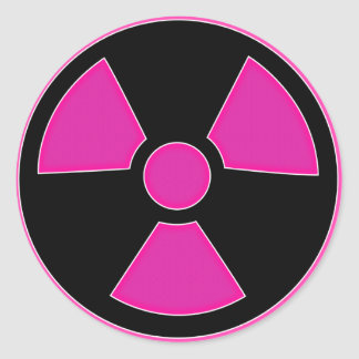 Radioactive Pink Sticker