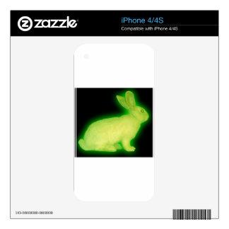 radioactive rabbit decals for iPhone 4