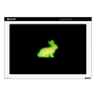 radioactive rabbit laptop skin