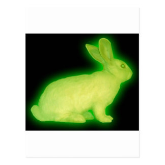 radioactive rabbit postcard