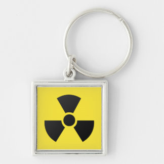 Radioactive radiation nuclear atomic symbol keychain