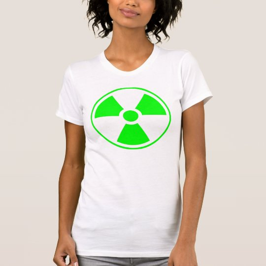 Radioactive Radiation Symbol green and white T-Shirt