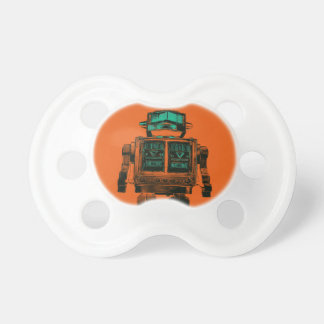Radioactive Robot Rebellion Baby Pacifier