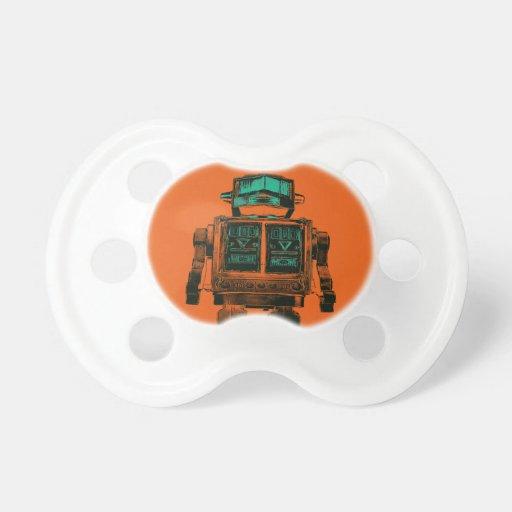 Radioactive Robot Rebellion Baby Pacifier