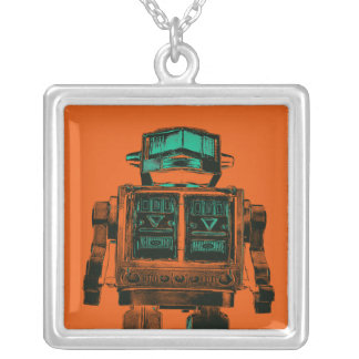 Radioactive Robot Rebellion Silver Plated Necklace