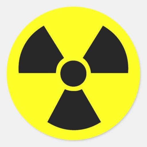 Radioactive Round Stickers