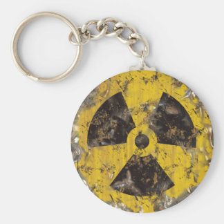 Radioactive Rusted Basic Round Button Keychain
