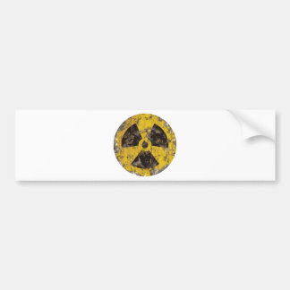 Radioactive Rusted Car Bumper Sticker