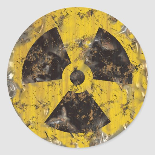 Radioactive Rusted Classic Round Sticker
