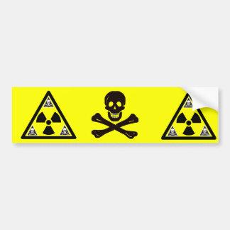 Radioactive Scull & Crossbones Car Bumper Sticker