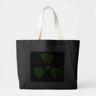 Radioactive-sign40 radioactive atom atomic nucl bag