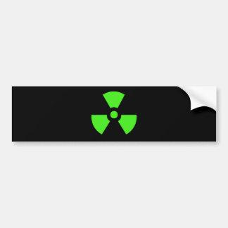 Radioactive-sign40 radioactive, atom, atomic, nucl bumper sticker