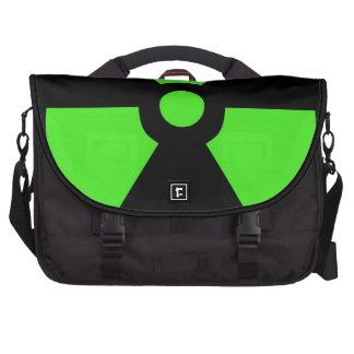 Radioactive-sign40 radioactive atom atomic nucl computer bag