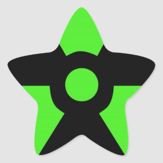 Radioactive-sign40 radioactive, atom, atomic, nucl star sticker