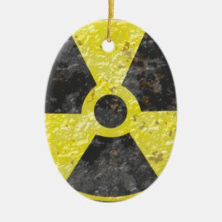 Radioactive Sign 2 Ceramic Ornament