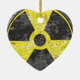 Radioactive Sign 2 Ceramic Ornament