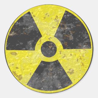 Radioactive Sign 2 Classic Round Sticker