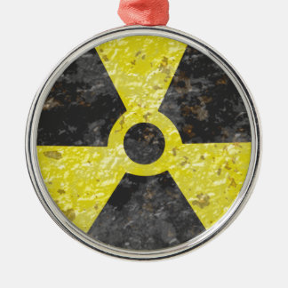 Radioactive Sign 2 Metal Ornament