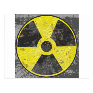 Radioactive Sign 2 Postcard