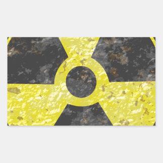 Radioactive Sign 2 Rectangular Sticker