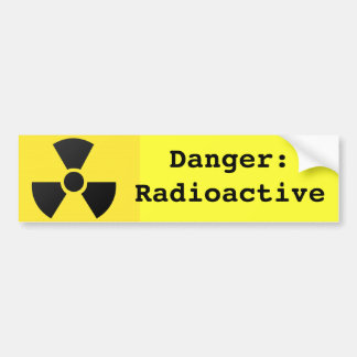 Radioactive Sign Bumper Sticker