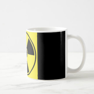radioactive sign on black coffee mug