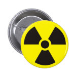 radioactive sign pinback button