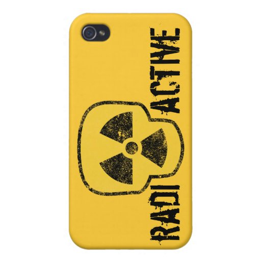 Radioactive Skull Covers For iPhone 4