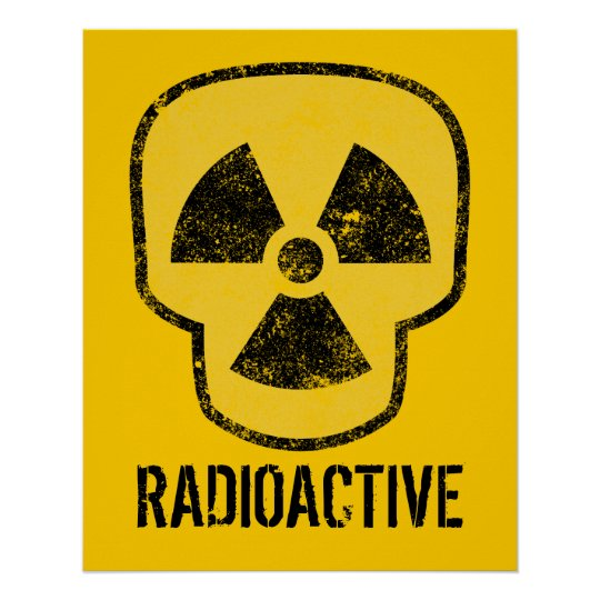 Radioactive Skull Poster
