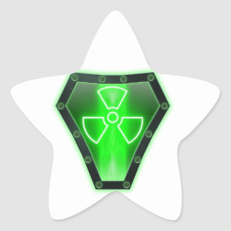 Radioactive Star Sticker