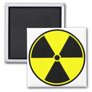 Radioactive Symbol 2 Inch Square Magnet