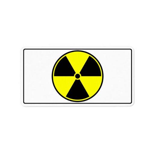 Radioactive Symbol Address Label