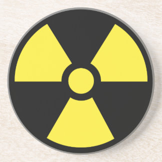 Radiation symbol drink beverage coasters zazzle - Radioactive coasters ...