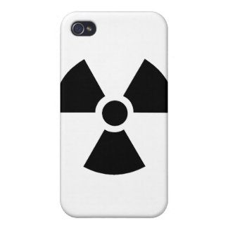 Radioactive Symbol Cover For iPhone 4