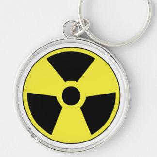 Radioactive Symbol Keychain